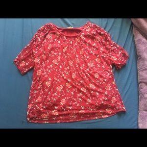 Flowy red rose shirt